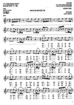Mavilim Mavişelim Nota 1